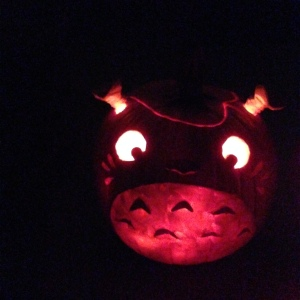 Have you guessed what it is? It's Totoro! See the leaf...? Yes...? No...? Shush.