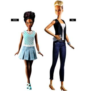 petite and tall barbies