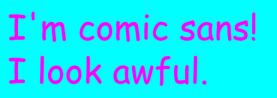 comic sans 2 big